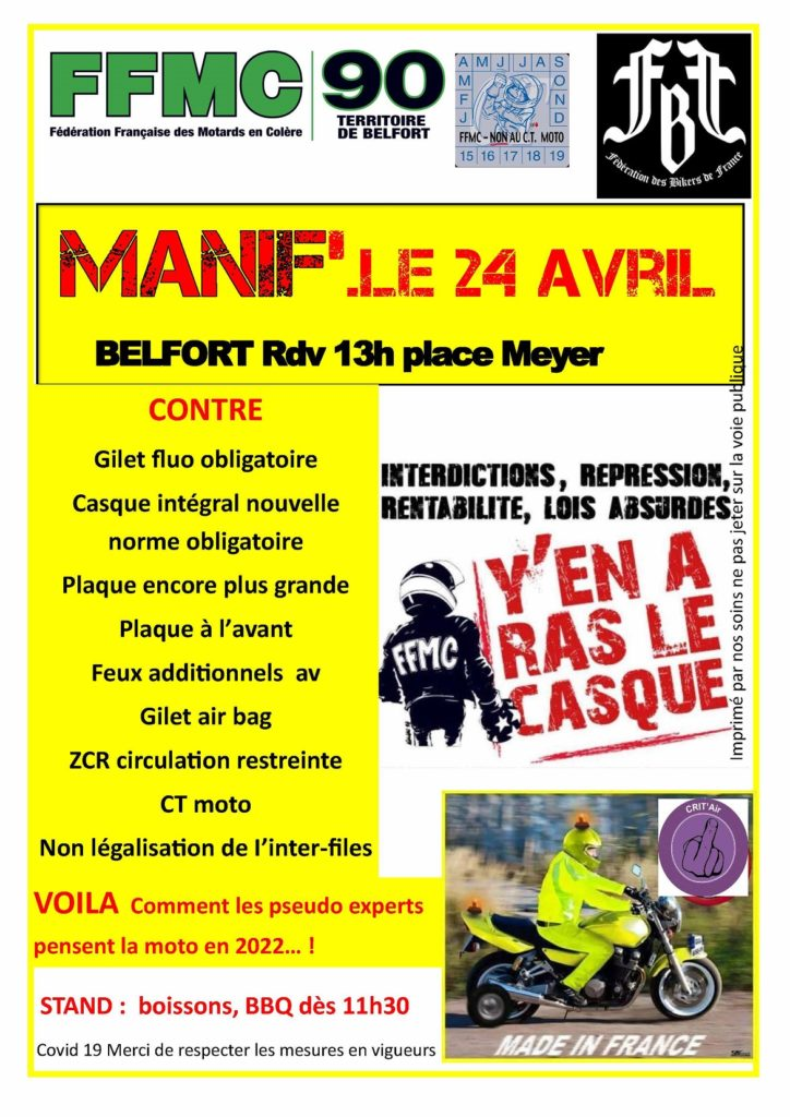 Manifestation à Belfort 24 avril 2021